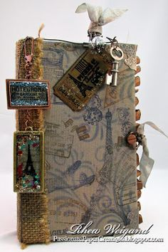 Passionate Paper Creations: Altered with Resin Charms Travel Book! @Rhea Walsh Walsh Walsh Walbring-Weigand