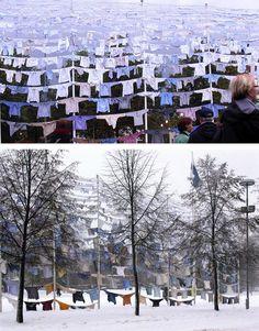 Hangs Laundry Installation by Kaarina Kaikkonen