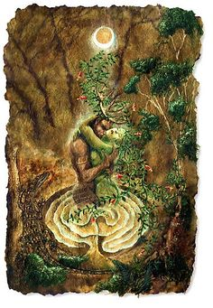 Cernunnos and The Goddess by Beau Ravn    http://www.redbubble.com/people/beauravn/works/437481-cerne-and-the-goddess