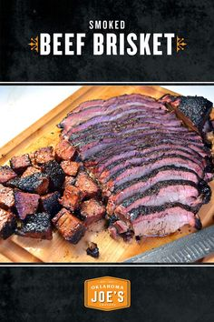 Expertly smoked beef brisket is a thing of beauty. The relaxed slices of smoky,. Bbq Brisket, Smoked Beef Brisket, Smoked Ribs, Beef Tenderloin Roast, Roast Beef, Oklahoma Joe Smoker, Joe Beef, Egg Recipes For Dinner, Roast Chicken And Gravy