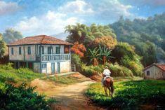 Tulio Dias: Foto e Interpretação 18 Seascape Paintings, Landscape Paintings, Sketchbook Drawings, House Landscape, Z Arts, Still Life Art, Mexican Art, Painting Lessons, Beautiful Paintings