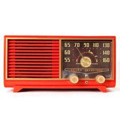 Orange Philco Speaker