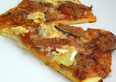 Pizza de higos, jamón y queso brie de Anita Cocinitas
