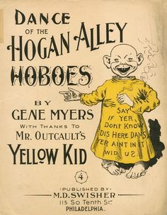 Yellow Kid Dance of the Hogan Alley Hoboes Sheet Music, 1897