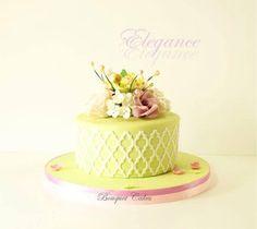 Moroccan lattice cake - by BouquetCakes @ CakesDecor.com - cake decorating website