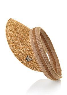 Toast mix straw visor Garden hat b472eb8d4716a
