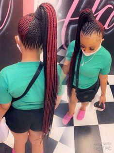 Black Hair Braid Hairstyles, Short Sew In Hairstyles, Braided Cornrow Hairstyles, Quick Weave Hairstyles, Kids Curly Hairstyles, Braids Hairstyles Pictures, African Braids Hairstyles, Cute Ponytail Styles, Cute Ponytails