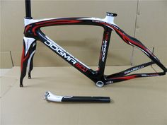 Hot Sale 2012 Pinarello Dogma 2 60.1 Red Black White Carbon Frame Fork Seatpost Clamp Headset