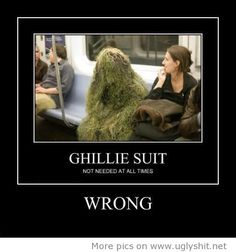 nice Ghillie suit... almost didn't see him sitting there!