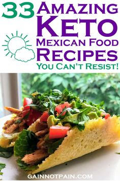 Don't give up tasty Mexican food now that you are living the Keto Diet lifestyle! Grab these yummy recipes and crush your next Cinco de Mayo party or Taco Night!