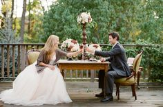 1 year anniversary dinner in your dress/tux.  Cute tradition! - Click image to find more Weddings Pinterest pins