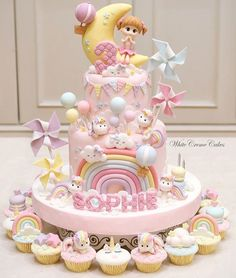 Unicorn Birthday Cake & Cupcakes just for Sophie? Unicorn Birthday Cake & Cupcakes just for Sophie? Birthday Cake Flavors, Baby Birthday Cakes, Baby Girl Cakes, Cupcake Birthday Cake, Birthday Cakes For Women, Cupcake Cakes, Unicorn Birthday, One Year Birthday Cake, Mom Birthday