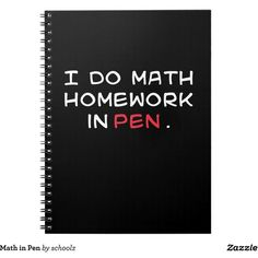 Math in Pen Note Books ($17) ❤ liked on Polyvore featuring home, home decor and stationery