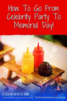 Celebrate Memorial Day with these patriotic party tips! | The Party Goddess! #memorialday #patriotic #partytips #eventplanner
