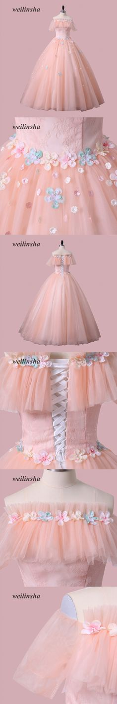 2619dc2fef0 weilinsha New Arrival Candy Color Quinceanera Dress Appliques Ball Gown  Masquerade Debutante Gown Dresses
