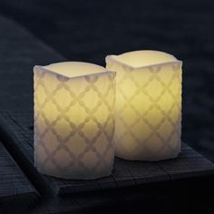 Home Decor: Home Decor – CLAUDIA White LED Candles - Small (Set of 2) – Dotty Home Gifts & Interiors