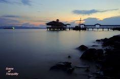 Scene of Tranquility: Tawau at dusk