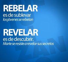 """El caso de la """"b"""" y la """"v"""". Rebelar vs. Revelar. #espanol, #spanish."""