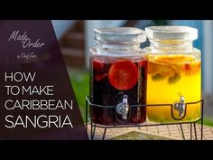 How to Make Caribbean Style Red & White Sangria | Made to Order | Chef Zee…