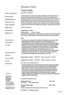 Leader Resume Examples Team Supervisor Cv Example Template Sample Unforgettable Lead To Stand Out Myperfectresume