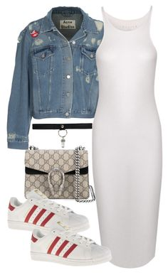"""""""Untitled #922"""" by paradise-101 ❤ liked on Polyvore featuring Acne Studios, Theory, Gucci and adidas"""