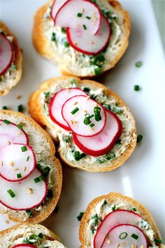 Radish Chive Tea Sandwiches