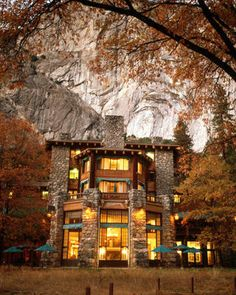 Ahwahnee Hotel, Yosemite National Park. (I've been traveling to Yosemite all my life, and after lunching here with Dan, it was decided that we needed to have a bit of a stay someday.)