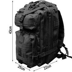 Cvlife 30L Tactical Outdoor Sport Military Rucksacks Backpack Camping Hiking Trekking Bag (Black): Amazon.co.uk: Sports & Outdoors