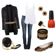 Leopard, black and gold - date night!