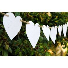 Wedding Wildflower Paper Heart Bunting with color pallet
