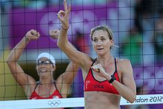 London Olympics Beach Volleyball Women    US Kerri Walsh Jennings, right, and Misty May-Treanor, left, react after their quarterfinal women's beach volleyball match against Italy at the 2012 Summer Olympics,