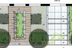 Strakke & robuuste voortuin Garden Design, Outdoor Structures, Landscape, Mountain, Houses, Home, Lawn And Garden, Scenery, Landscape Designs
