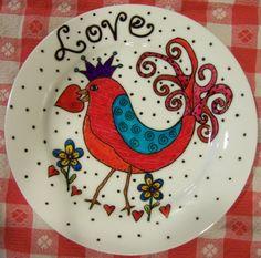 :) Bird of Love Plate