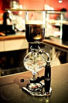 Siphon coffee maker ~ SO cool!! I have never seen one of these