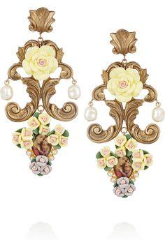 Dolce & Gabbana cameo clip earrings