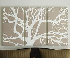 multiple canvas painting tree branches