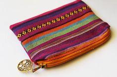 Tribal Purse Zipper Card Holder Coin Purse Change Pouch