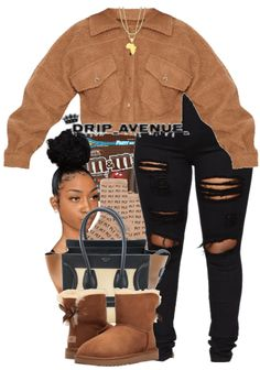Baddie Outfits Casual, Boujee Outfits, Cute Lazy Outfits, Swag Outfits For Girls, Cute Swag Outfits, Teenage Girl Outfits, Chill Outfits, Teenager Outfits, Winter Fashion Outfits