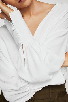 1dc8e39e86c0 Halenky a košile Košile s dlouhým rukávem - Mango - Košile Pink2 Mango