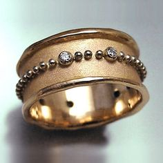 annes jewelry - 14k rose gold, 14k white gold and diamond band