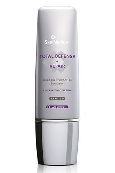 Sure, this tinted cream won't replace your full-coverage foundation, but it will help even out your skin tone while providing sun protection.SkinMedica Total Defense   Repair SPF 34 Tinted, $68, available at SkinMedica. #refinery29 http://www.refinery29.com/best-sunscreen-no-breakouts#slide-6