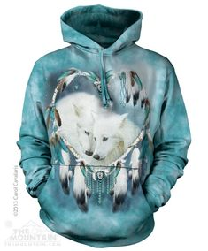 Snow Wolf Wolves Native American Indian Wild Hoodie S M L XL
