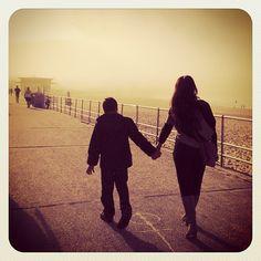 Misty Mothers Day at Bondi (me & my boy) #mum #atbondi #bondi #mist #MothersDay #promenade #sydney #holdinghands