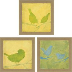 Paragon Picture Gallery 4104 Birds I Modern / Contemporary Wall Art / Wall Decor (Pack of 3) PPG-4104
