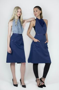 Trendy and luxurious staff apron. 100% water and stain resistant, with cotton feel. #apron #staff #uniforms #bedifferent