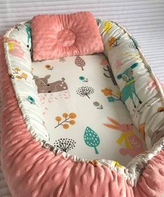 Double sided Baby Nest Bed Babynest Newborn Co Carlisle, Baby Nest Bed, Baby Bedding Sets, How Big Is Baby, Baby Size, Baby Sewing, Baby Fever, Future Baby, Baby Room
