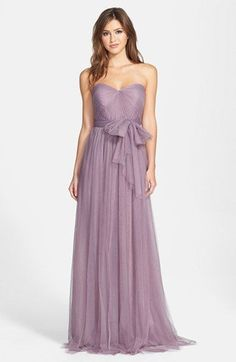 Video of dress here - Jenny Yoo 'Annabelle' Convertible Tulle Column Dress (Regular & Plus Size) | Nordstrom  Colors: Raisin, Amethyst, Lilac
