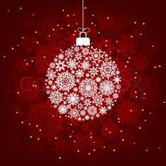 Christmas decoration made from red and white snowflakes. EPS 8 vector file included