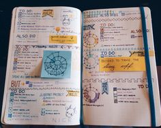 "kuniklo-box: "" •8/30/15• As promised! study-stressed-hermione Here are this week's pages. The theme this week was ""school colors"". Mine are blue and gold! This was my first week doing a bullet journal..."