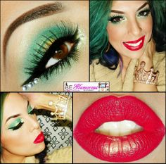 It's kinda like a hot Poison Ivy! ;-) BE Glamorous By Lindsay: St. Patricks Day Makeup Look Tutorial & NOTD